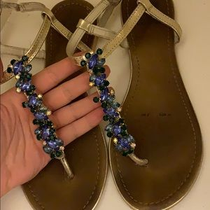 Shoes - Sandals with blue stones
